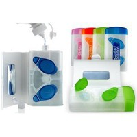 COSO Contact Solution Compact Travel Contact Lens Case-Cool Colors!
