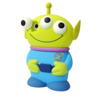 Disney 3D 3 Eyes Toy Story Alien Movable Eye Hard Case Protector Shield Cover Iphone 4 and 4S Gift Blue