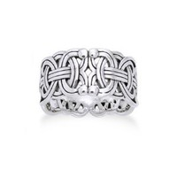 Viking Braided Wedding Band Borre Knot Norse Celtic 10mm Sterling Silver Ring(Sizes 4, 5, 6, 7, 8, 9, 10, 11, 12, 13, 14, 15): Jewelry: Amazon.com