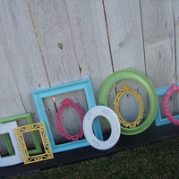 10 Shabby Chic PICTURE FRAMEs in CoTTON CANdY SkY by VintageEvents