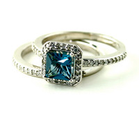 14K London Blue Topaz Diamond Ring Gemstone by RareEarth on Etsy