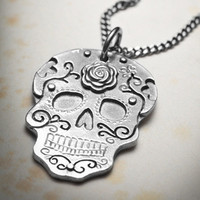 SUGARSKULL necklace by missyindustry on Etsy