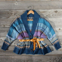 Navajo Sunset Sweater in Blue, Sweet Country Women's Clothing