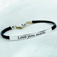 Love You More Bracelet Ss | Apparel | SkyMall