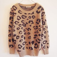 Leopard Knitted Sweater-EMS