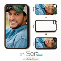 NEW LUKE BRYAN 2 n-Sert iPhone 4/4s Case with Changeable Inserts
