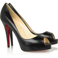 Christian Louboutin Black Kid leather peep-toe pumps [20111112001] - $177.00 : Christian Louboutin Shoes Sale, Enjoy 77% Off On Designer Outlet