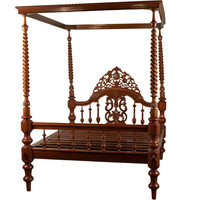 Michael Donaldson Antiques - Anglo-Indian Teak Four Poster Bed with Canopy