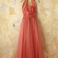 Free People Vintage Coral Tulle Dress