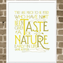 $30.00 Jane Austen Quote  11x14 Nature Word Art Print  by FlourishCafe