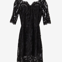 Short Sleeve Lace Dress - Intermix Online