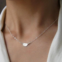 $24.00 Tiny Half Moon Sterling Silver Necklace by kikisan on Etsy