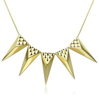 Five Trangle Necklace