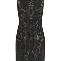 Alexander McQueen | Skeleton-weave fine-knit dress | NET-A-PORTER.COM