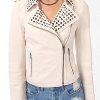 Studded Leather Moto Jacket | FOREVER 21 - 2031557365