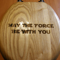 Laser engraved Star Wars toilet seat by LaserBlazedDesigns on Etsy