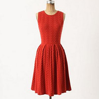 Anthropologie -  Red knitted dress