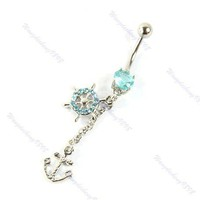 1PCS Dangle Crystal Nave...