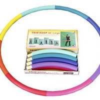 Weighted Sports Hula Hoop for Weight Loss - Trim Hoop 3B 3 lb. No Ridge, Travel Easy and Easy to As