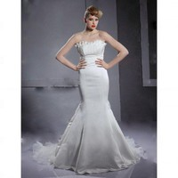 Trumpet / Mermaid Strapless Sleeveless Court Train Satin Organza Wedding Dress - Wedding Dresses 2011 Collection - Wedding Dresses - Wedding  Events