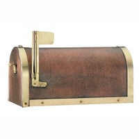 Antique Style Aged Copper Mailbox