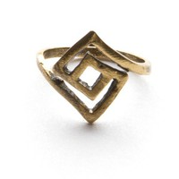 Bronze Labyrinth Ring
