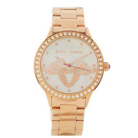 ROSE GOLD HEART WATCH WITH WINGS - Betsey Johnson $145.00
