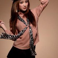 Wholesale Concise Style Fashion Pink Blouses_F/W Blouses_Wholesale - Wholesale Clothing, Wholesale Shoes, Bags, Jewelry, Wholesale Fashion Apparel &amp; Accessories Online
