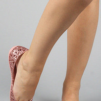 The Campana Zig Zag in Powder Pink GlitterExclusive : Melissa Shoes : Karmaloop.com - Global Concrete Culture