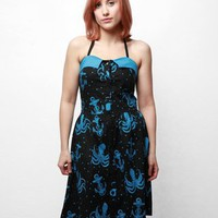 $50.00 Sourpuss out To Sea Dress - Black - Punk.com