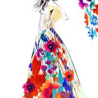 Flourish II // FASHION ILLUSTRATION // A3 Giclée print