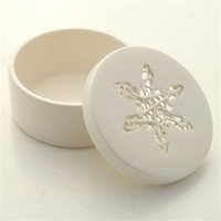 Tangled Snowflake Container by Timea Sido at Seek & Adore