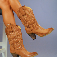 RESTOCK Country Girl Boots: Light Brown | Hope's