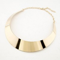 *Free Shipping*Bright Gold Color Choker Necklace 10070257 from MaxNina