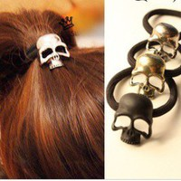 Skull Hair Band Women's Hair Accessories from LOOBACK FASHION STORE