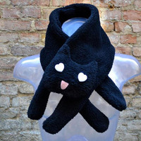 SURVIVAL-SALE Kawaii white or black Cat Scarf
