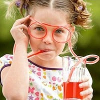 Silly Straw Glasses Novelty Drinking Straw, Grinking Glasses
