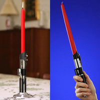 The Green Head - Star Wars Lightsaber Candlestick