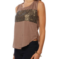 Papaya Clothing Online :: BACK CROSS SPANGLE TRIM TOP