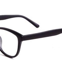 Barbro Eyeglasses with Black Acetate Aviator Full Frame/Rim Frame