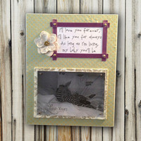 I'll Love You Forever, I'll Like You For Always - 8x10 Base With 4x6 Horizontal Magnetic Photo Holder - Wall or Tabletop Decor