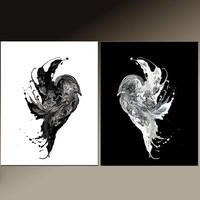 2PC Abstract Art Print Set 11x14 ea Contemporary Modern Wall Art by Destiny Womack  - dWo - One Soul