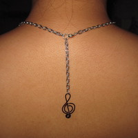 Love Music Chain Necklace Unique Gifts Music Note Treble Clef