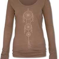 Dreamcatcher Organic Long Sleeve T-Shirt: Soul-Flower Online Store