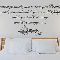 Aerosmith Breathing wall qote sticker bedroom decal mural home improvement interior design