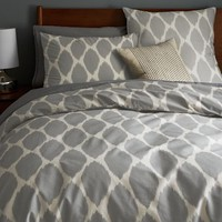 Ikat Ogee Duvet Cover + Shams