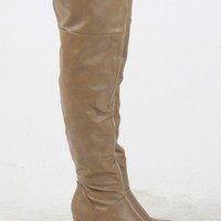 SALE 30% OFF - Over-The-Knee Wedge Boots
