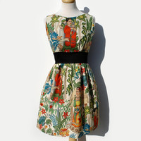 Custom Made Frida Kahlo  Dress / Rockabiily Pinup Dress /  Your Measurements and you choose the Fabric
