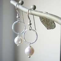 ivory pearl earrings by hazey designs | notonthehighstreet.com