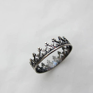 There is no queen without a crown ring by lunaticart on Etsy